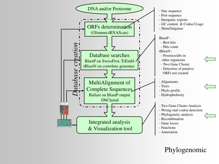 DNA and/or Proteome