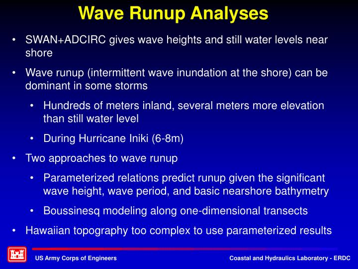 Wave Runup Analyses