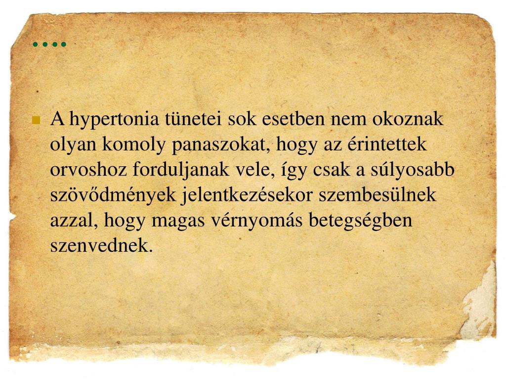 a hipertónia motivációja)