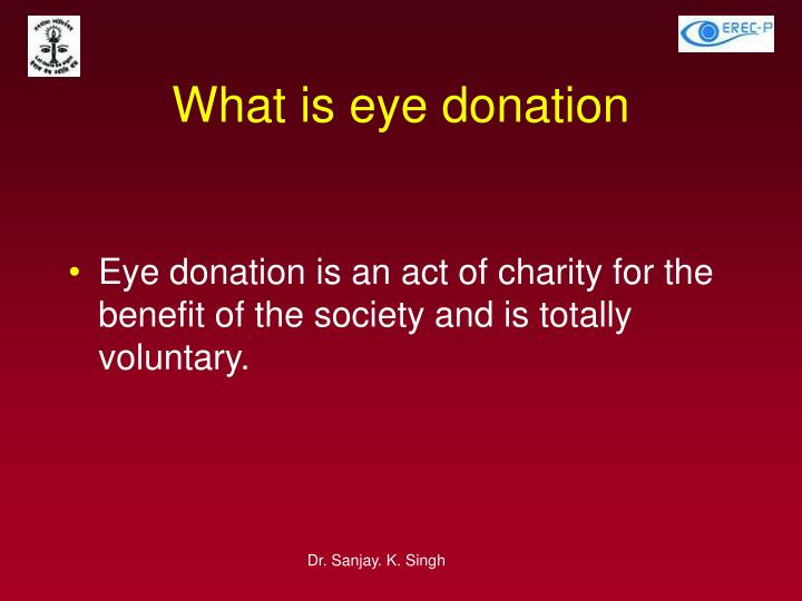 What is eye donation