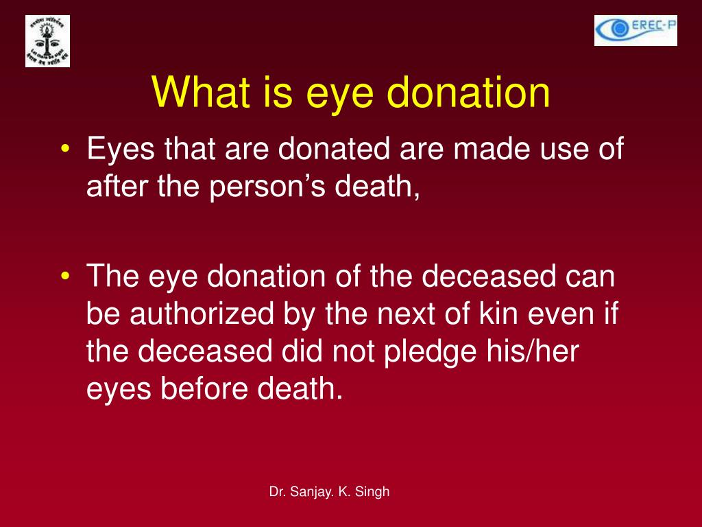 PPT - Eye Donation Awareness Programme PowerPoint
