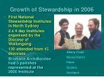 growth of stewardship in 2006