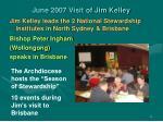 june 2007 visit of jim kelley