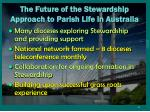 the future of the stewardship approach to parish life in australia