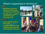 what s happening in brisbane