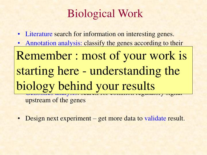 Biological Work