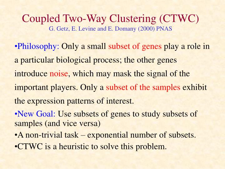 Coupled Two-Way Clustering (CTWC)