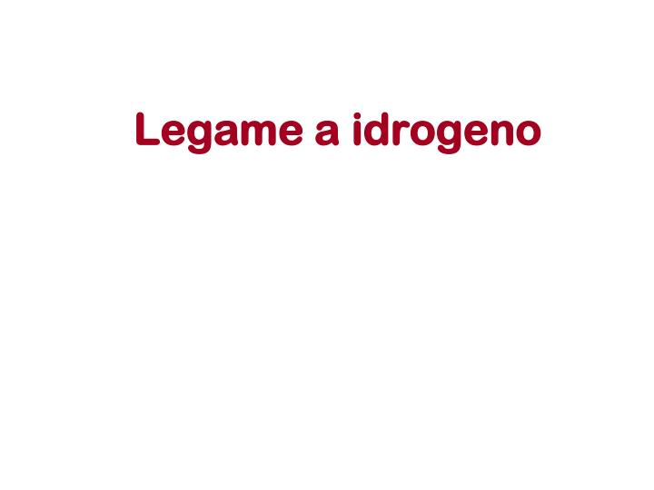 Legame a idrogeno