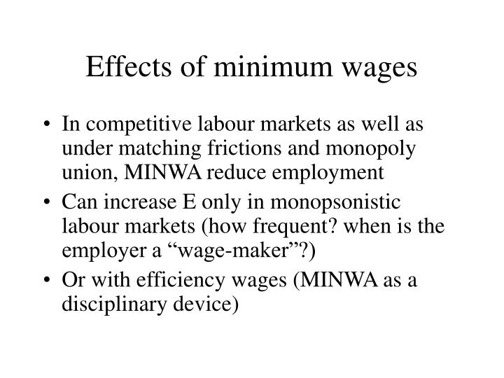 Effects of minimum wages