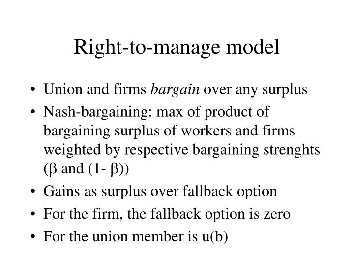 Right-to-manage model