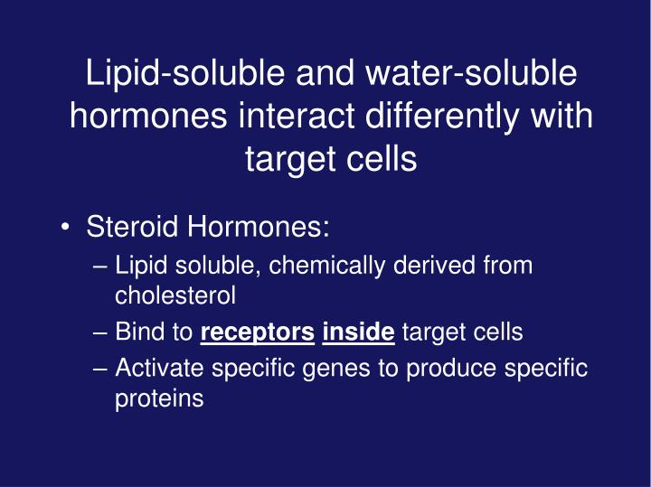 Lipid-soluble and water-soluble hormones interact differently with target cells
