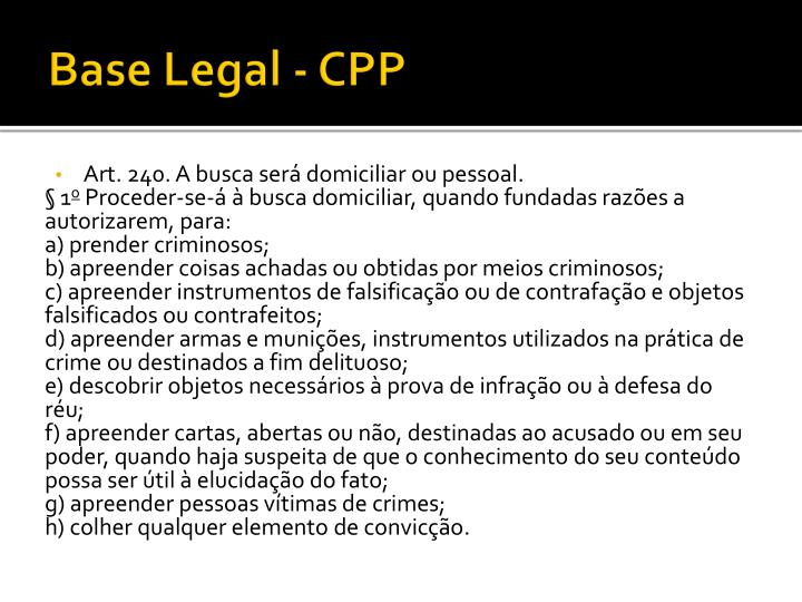 Base Legal - CPP