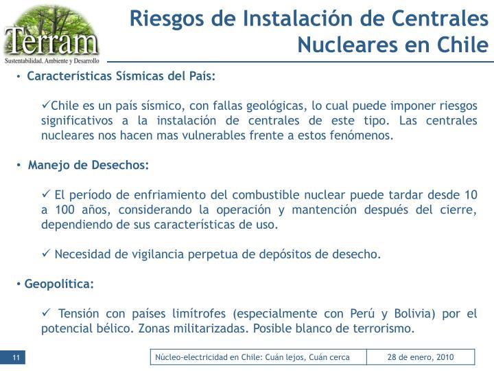 Riesgos de Instalación de Centrales Nucleares en Chile