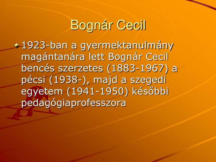 Bognár Cecil