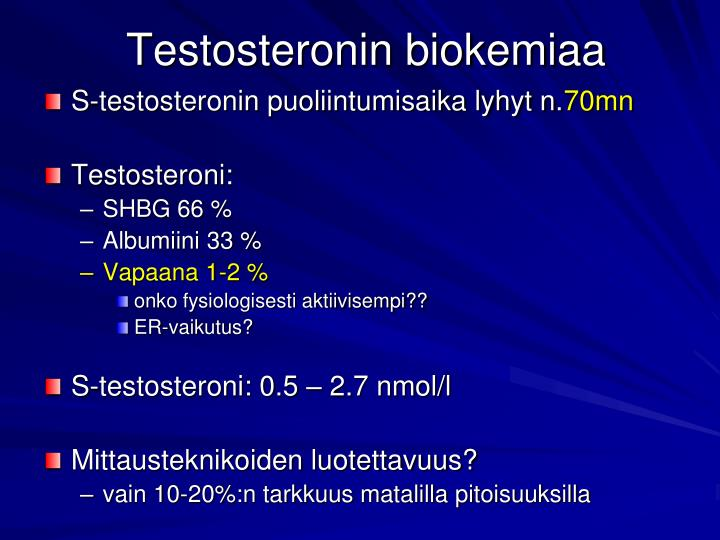 Testosteronin biokemiaa