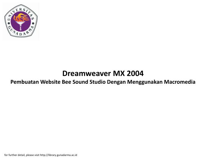 Dreamweaver MX 2004