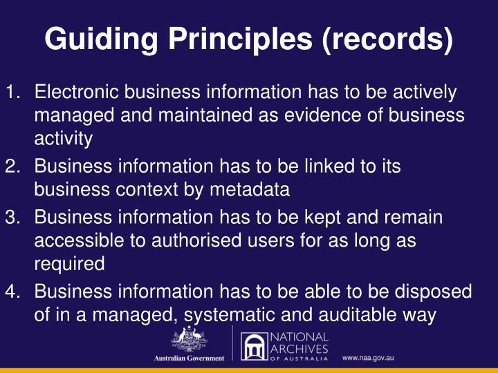 Guiding Principles (records)