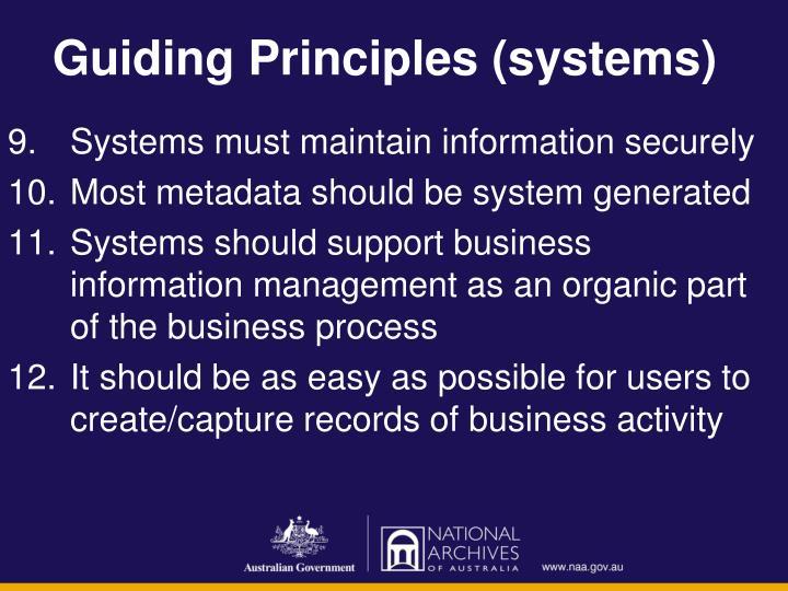 Guiding Principles (systems)