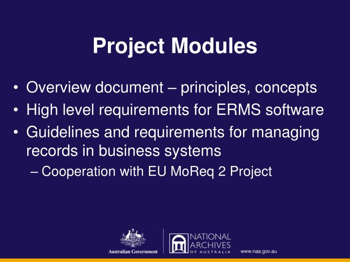 Project Modules