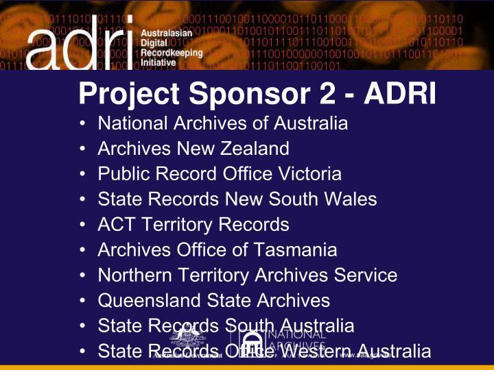 Project Sponsor 2 - ADRI