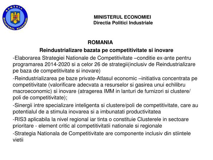 Ministerul economiei directia politici industriale1
