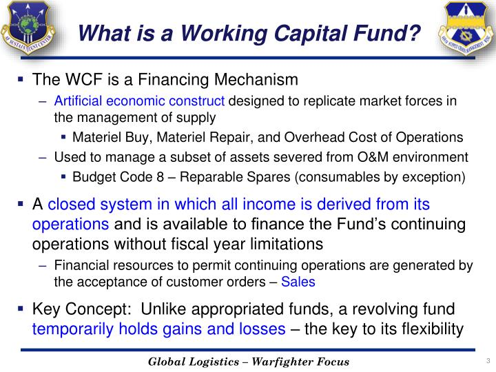 What is a working capital fund