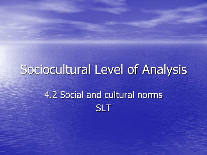 error analysis socio presentation Error analysis introduction however, we are also interested in the error of the mean, which is smaller than sx if there were several measurements.