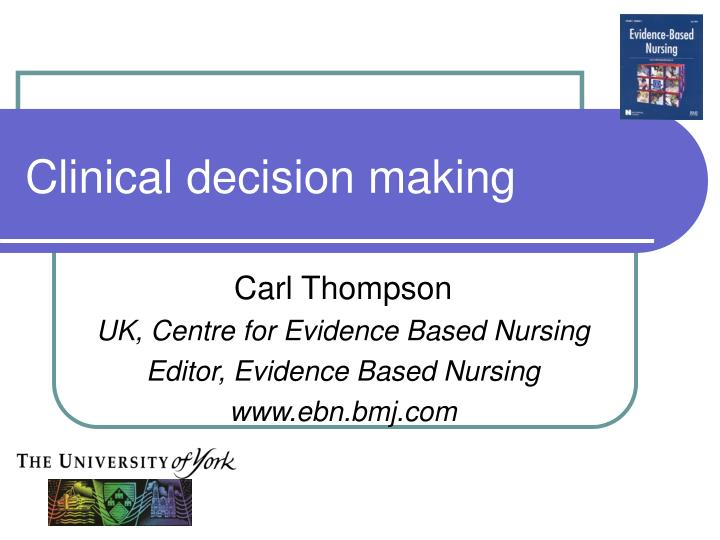 clinical decision Clinical decision support is used by clinicians, patients, and other stakeholders through the use of knowledge, procecesses, and inference, to support decisions-makers in clinical, administrative, and managerial activities to improve the quality of health care services and outcomes [1,2.