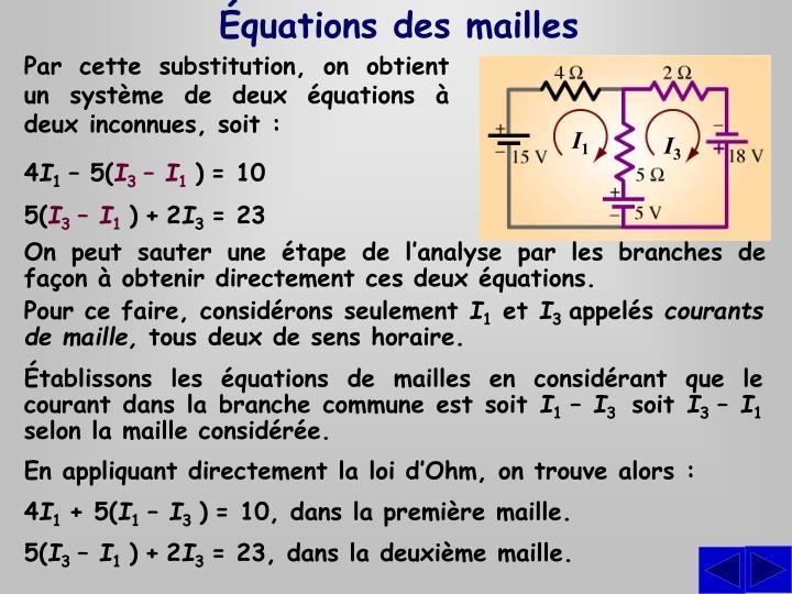 Équations des mailles