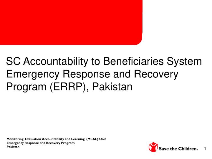 SC Accountability to Beneficiaries