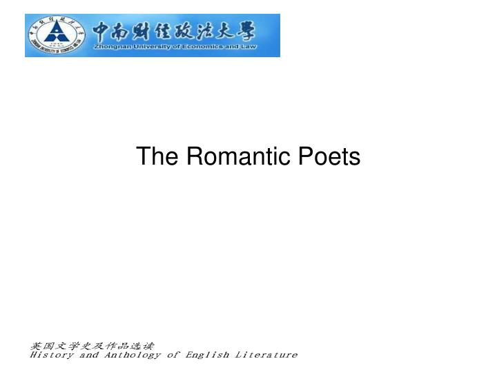 the romantic poets n.