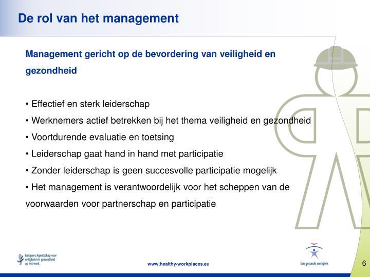 De rol van het management