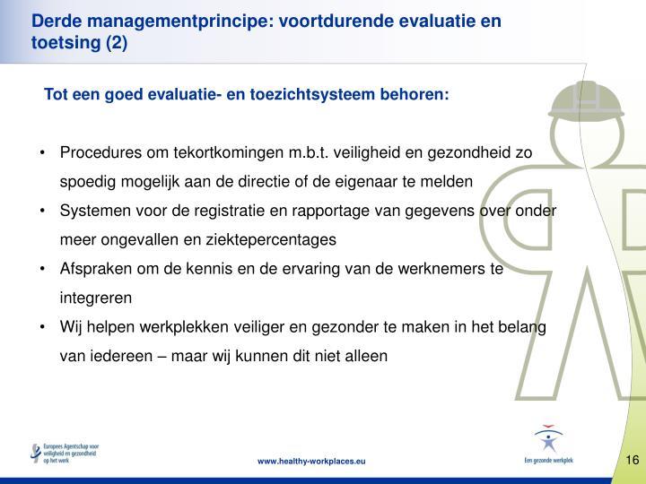 Derde managementprincipe