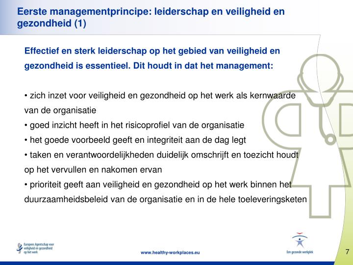 Eerste managementprincipe: leiderschap en veiligheid en gezondheid (1)