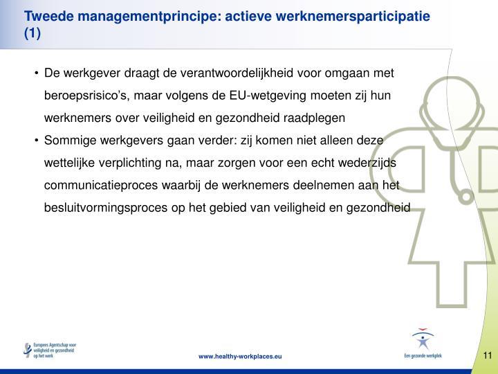 Tweede managementprincipe: actieve werknemersparticipatie (1)