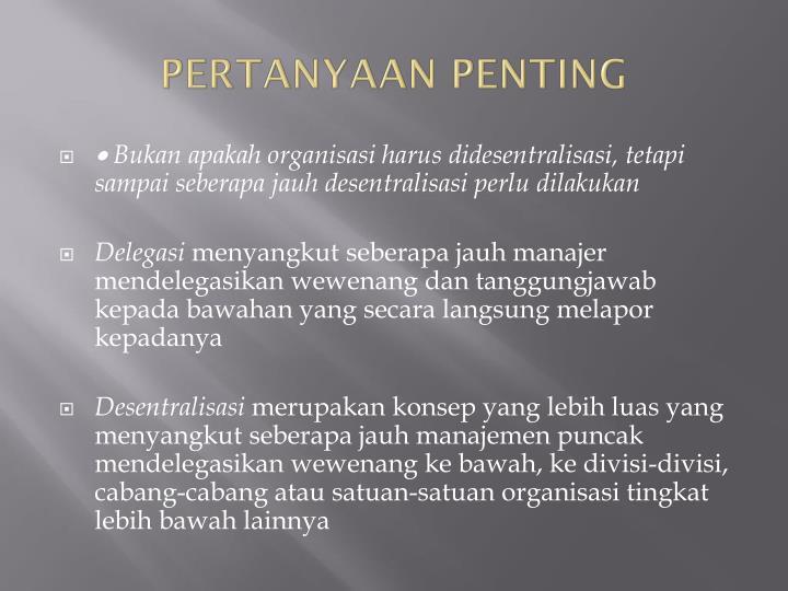PERTANYAAN PENTING