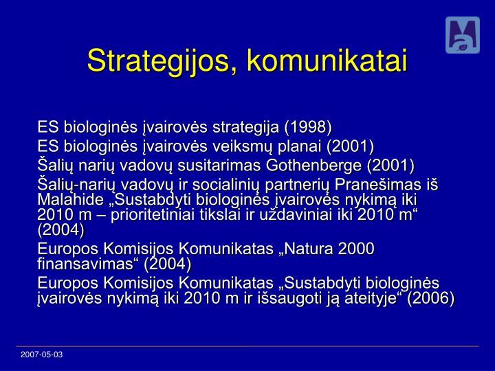 Strategijos komunikatai