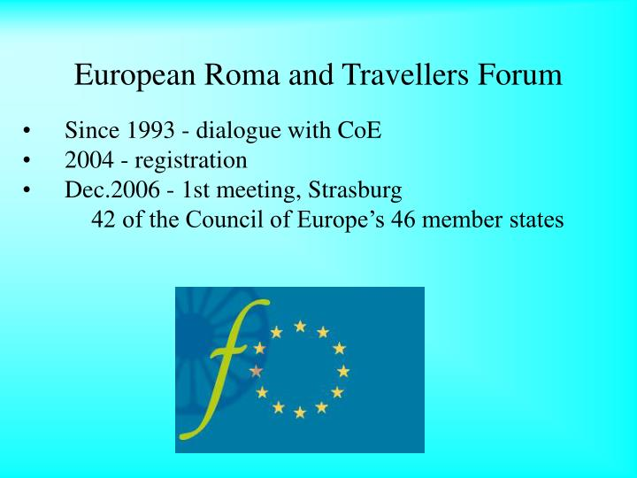 European Roma and Travellers Forum
