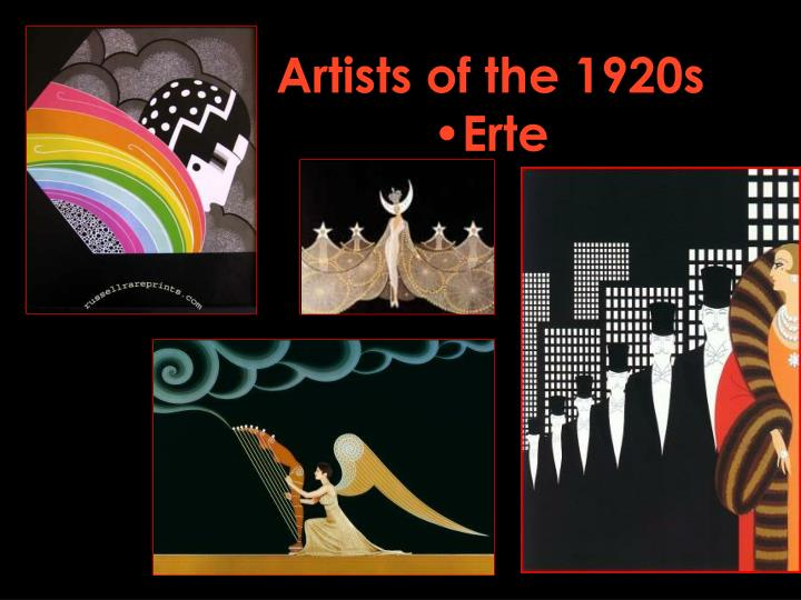 Artists of the 1920s erte