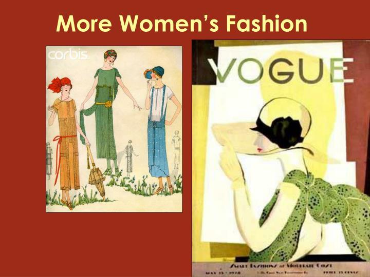 More Women's Fashion