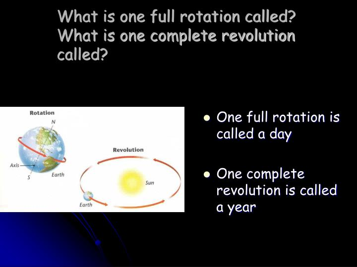 What is one full rotation called?