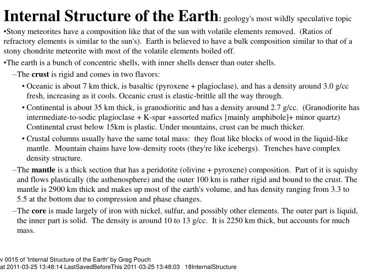 Internal structure of the earth geology s most wildly speculative topic