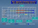 ncc upgrade schedule scenario eob to bnl management oct 2005 rks in loi