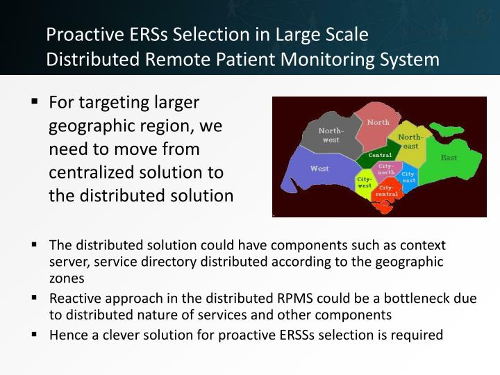 Proactive ERSs Selection in Large Scale Distributed Remote Patient Monitoring System