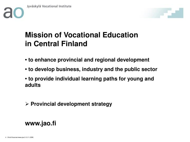 Mission of Vocational Education