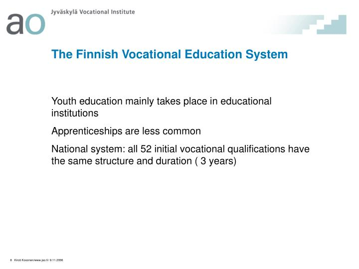 The Finnish Vocational Education System