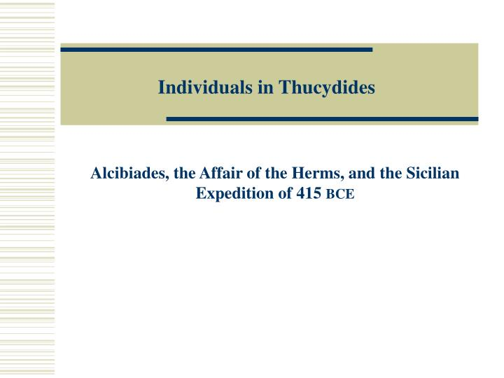 individuals in thucydides n.