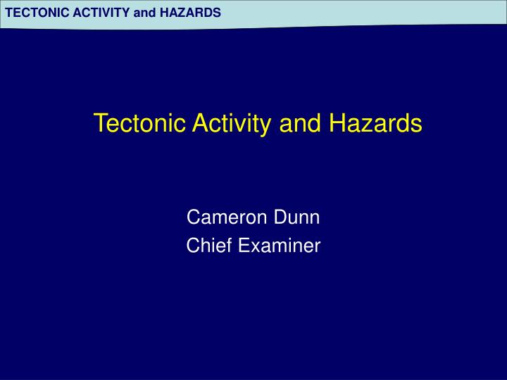 tectonic hazard profiles determine essay Definition of tectonic hazard, plate movements, ledcs, medcs, responses, people and governments (human responses) hazard profile sections of report: magnitude, frequency, predictability concepts and theories: models and diagrams case studies: ledc haiti earthquake, medc tsunami japan, california, china introduction tectonic activity varies due.