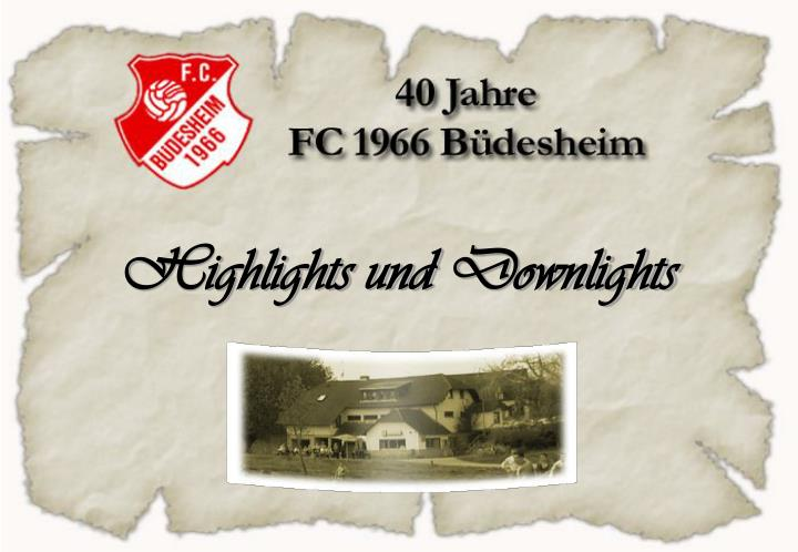 highlights und downlights n.