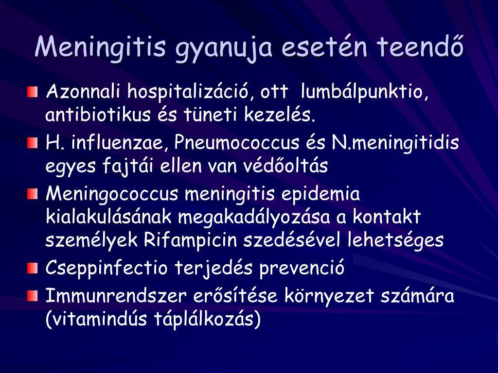 látás meningoencephalitis esetén